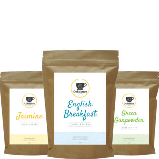 Set of 3 packages of tea